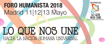 Banner del V Foro Humanista Europeo 2018